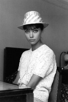 Anna Karina photographed by Edward Quinn at the Hotel Martinez, Cannes, May 1960.                                                                                                                                                                                 Plus