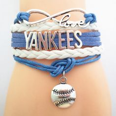 Infinity Love New York Yankees Baseball - Show off your teams colors! Cutest Love New York Yankees Bracelet on the Planet! Don't miss our Special Sales Event. Many teams available. www.DilyDalee.co