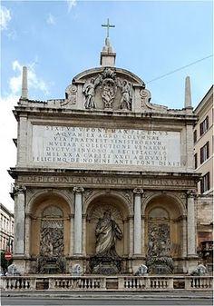 Fontana dell'Acqua Felice - 1586-1587, Domenico Fontana