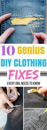Great list of clothing hacks to try! Definitely need to try this on some of my damaged clothes! #fashionhacks #clothinghacks #clothingfixes #style #clothingdiy #diyhacks
