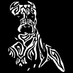 Tribal Pit Bull Vinyl Decal Pit Bull Decal by StirredStrung
