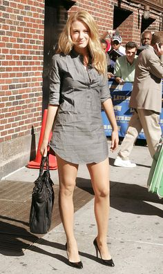 Blake Lively inThe Cut with a long shirt by Alphinestars