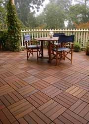 Wood composite patio pavers - can go over an existing concrete patio!