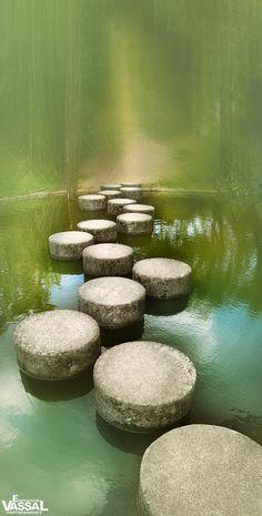 ~~ZEN ~ stepping stone path in placid waters by Emmanuel VASSAL~~