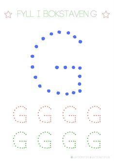 Swedish Language, Tracing Letters, Pre School, Montessori, Literacy, Kindergarten, Teaching, Education, Crafts