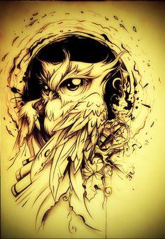 55 Awesome Sleeve Tattoos Ideas and designs - Tattoo-Designs best tattoo ideas designs Best Sleeve Tattoos, Body Art Tattoos, Cool Tattoos, Tatoos, Owl Tattoo Design, Tattoo Designs, Tattoo Ideas, Buho Tattoo, Bild Tattoos