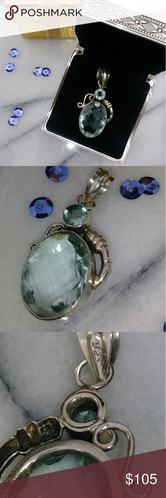 Sterling Silver & Aquamarine Vintage BOHO Pendant I got this bold & beautiful huge aquamarine & sterling silver 925 pendant necklace @ an artist event in Tennessee. Its handmade by a legendary artist. Im not sure carat weight but think its 20+ 😎 For pics or ?s, Plz 📝 💬 👇👌👍😘*FREE GIFTS & 🎁WRAP W/ PURCHASE! 🚨Plz remeber to: *Share the posh love*make me offers*follow me for comedy relief😜*Plz check out my closet w/ FREE PEOPLE THE JETSET DIARYS SOREL TOO FACED TURQOUISE JEWELRY…