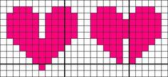 #Pixel #Hama #Beads #Pyssla #PuntoCroce #CrossStitch #Cuore #Heart #3D