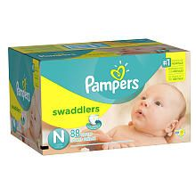 Pampers Swaddlers Newborn Diapers Super Pack  88 Count