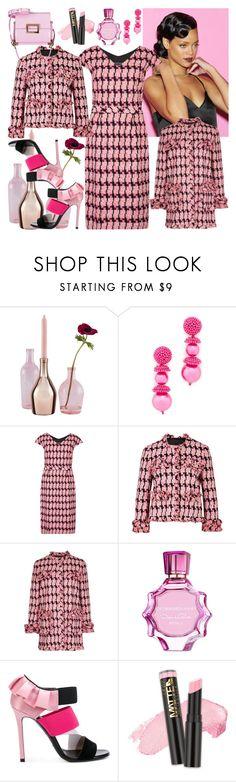 """Garden Flower"" by nefertiti1373 on Polyvore featuring Incipit, Oscar de la Renta, Boutique Moschino, Emilio Pucci, L.A. Girl, Roger Vivier and Rihanna"