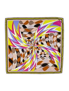 Emilio Pucci Silk Scarf In the Elica print