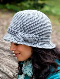 Yarnspirations.com - Caron Elegant Hat - Patterns  | Yarnspirations