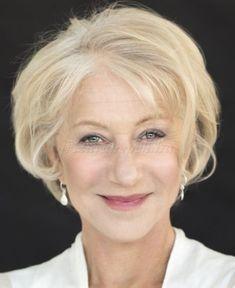 rövid frizurák 50 feletti nőknek - Helen Mirren rövid frizura