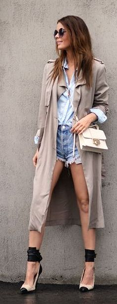 Chambray And Blush Outfit Idea by Stylista  pinterest: Samdstylist