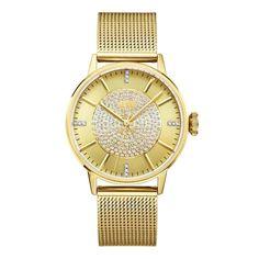 JBW Women's J6339A Belle 0.12 ctw 18k gold-plated stainless-steel Diamond Watch