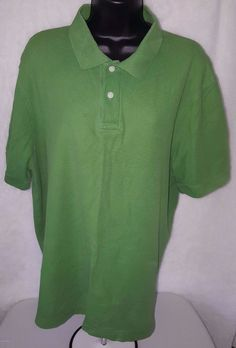 JERZEES Boys Short Sleeve 2 Button Polo Shirt RED Small S NWOT