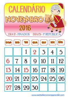 Calendário 2016 - Novembro