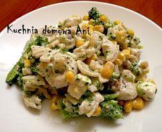 Sałatka brokułowa z tortellini Tortellini, Mozzarella, Risotto, Potato Salad, Potatoes, Cooking Recipes, Ethnic Recipes, Food, Impreza
