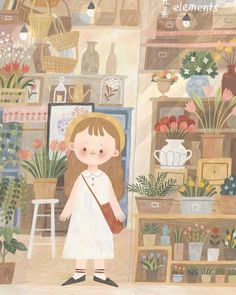 #Repost @chara_littleme ・・・ Autumn morning  #illustration #doodle #sketch #daily #autumn #girl #flower #flowershop #cute #sliceoflife… Family Illustration, Cute Illustration, Character Illustration, Beautiful Drawings, Cute Drawings, Cute Pastel Wallpaper, Cute Cartoon Wallpapers, Whimsical Art, Cute Stickers