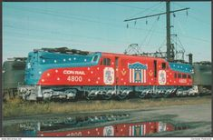 Conrail Bicentennial electric locomotive postcard ex PRR Electric Locomotive, Diesel Locomotive, Railroad Photography, Travel Photography, Railroad Industry, Postcards For Sale, Pennsylvania Railroad, American Freedom, Electric Train