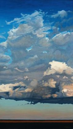 Autumn Clouds Over North Beach painting by Tom Steinmann ☁