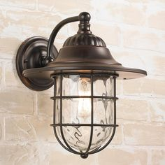 Prairie Lantern with Dimpled Glass