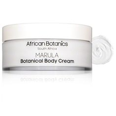 African Botanics Marula Botanical Body Cream relieves dull, dehydrated skin for a soft and supple texture. African marula oil stimulates tissue growth to reduce sagging and fine lines and vitamins C and E brighten the complexion and neutralize free radicals. Shea butter, avocado, jojoba and macadamia nut oils revitalize your skin with nutrient-rich hydration that promotes silky smooth elasticity.