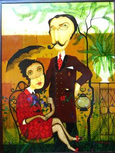 Art OTAR IMERLİSHVİLİ Georgie, Classic Artwork, Parasols, Decoupage, Post Impressionism, Naive Art, Watercolor Pattern, Art And Architecture, Figurative Art