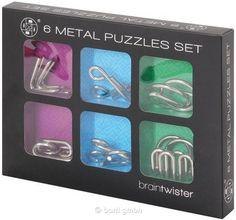 Bartl, Metal Puzzle Set 6 Stück, Ab 8 Jahren. In Geschenkverpackung   100999 / EAN:6939160968049