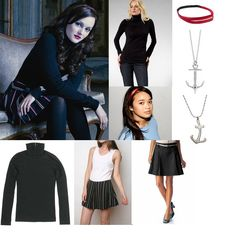 On Blair: Nanette Lepore Admiral Striped Skirt, Alexis Bittar Anchor Necklace