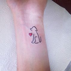 simple dog tattoos - Google Search