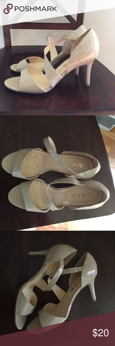 Nude strappy heels  Worn once, minimal wear, some sticker residue in one shoe (easy to remove), no scuffs or damage Unisa Shoes Heels