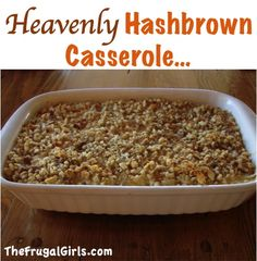 Heavenly Hashbrown Casserole RecipeThe Frugal Girls in Breakfast Recipes, Easter Recipes, Main Courses Sides, Recipes recipes side dishes paula deen recipes side dishes potlucks recipes side dishes ree drummond recipes side dishes veggies food main course Easter Recipes, Brunch Recipes, Breakfast Recipes, Fall Recipes, Holiday Recipes, Breakfast Ideas, Brunch Dishes, Easter Food, Breakfast Buffet