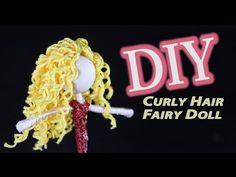 How to make dolls and flower fairy dolls. This easy DIY doll making tutorial will teach you how to make a doll using a basic flower fairy doll technique. Diy Dolls Making, Doll Making Tutorials, Hair Tutorials, Worry Dolls, Yarn Dolls, Crochet Dolls, Fabric Dolls, Fairy Crafts, Doll Crafts