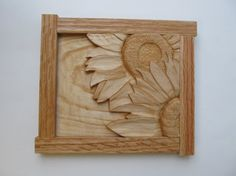 Sunflower Sunflower Wall Carving Wood by NorthWindCarvings on Etsy