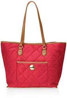 Tommy Hilfiger Solid Nylon All In One Shopper Shoulder Bag, Pink, One Size *** Click image for more details.