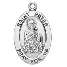 "Sterling Silver Oval Medal Necklace Patron Saint St. Peter with 20"" Chain in Gift Box HMHRegina, http://www.amazon.com/dp/B003QI23JY/ref=cm_sw_r_pi_dp_9gJWpb0P4T7QW"