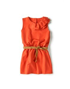 Dress with Frilled Neckline for Toddler Girls, $20