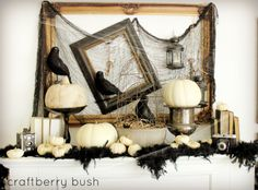 Craftberry Bush: Halloween Mantel and a Linky Party...