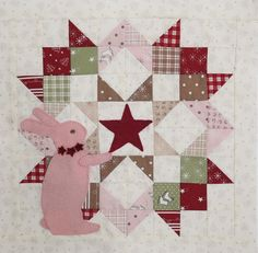 Pink bunny love from Bunny Hill Designs! Mini version of moda love quilt