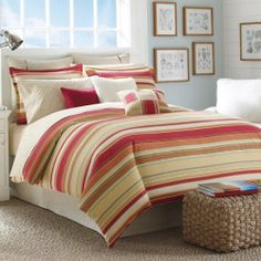 """NAUTICA Yellow BAY VIEW Multi-Stripe 9PC QUEEN COMFORTER SET Bundle by NAUTICA. $299.95. Nautica Bay View features a classic allover herringbone weave with warm rust, mustard and pale yellow stripes.. Queen Comforter: 92"""" x 96"""", 2 Standard Shams: 20"""" x 26"""",. 9 Piece Nautica Bay View bundle set includes:. Decorative Pillow 16"""" square, Decorative Breakfast Pillow - 12"""" x 20"""". queen flat sheet: 90"""" x 102"""", queen fitted sheet: 60"""" x 80"""", 2 standard pillowcases: 20"""" x 30..."""
