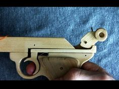 Structure of the rubber band gun - Windmill Release - YouTube