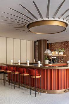 Bar Interior Design, Cafe Interior, Interior Exterior, Interior Design Inspiration, Design Ideas, Lounge Design, Bar Lounge, Decoration Restaurant, Design Bar Restaurant
