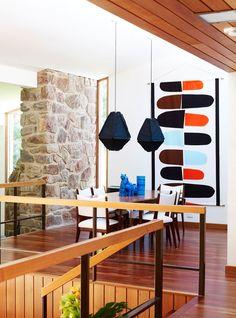 Modern home design Mid Century Modern Design, Mid Century Modern Furniture, Modern House Design, Modern Interior Design, Mid Century Decor, Mid Century House, Mid Century Art, Mid-century Interior, Interior Styling