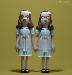 Vinyls figurines created by: A Large Evil Corporation www.tv The Grady sisters, The Shining, Stanley Kubrick, 1978 Toy Art, The Shining Twins, Art Jouet, Le Clown, Halloween Countdown, Happy Halloween, Bill Murray, Modelos 3d, Horror Icons