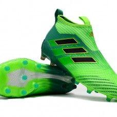 best cheap 069d8 701fe Descuento Botas De Futbol Adidas ACE 17+ Purecontrol FG Verde Solar Dorado  Negro