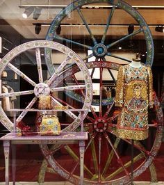 The Dolce and Gabana window in Tokyo.  LOVE those wheels!!  Japanese JUNK.  OMG.