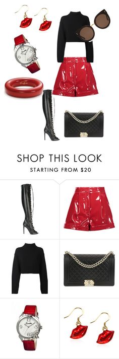 """""""Untitled #194"""" by xheniii ❤ liked on Polyvore featuring Giambattista Valli, Valentino, DKNY, Chanel, Bertha, Whimsical Watches, Tiffany & Co. and STELLA McCARTNEY"""