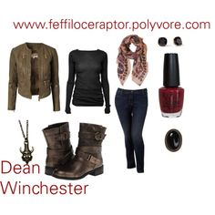 """""""Dean Winchester"""" by feffiloceraptor on Polyvore #Supernatural #casual #cosplay"""
