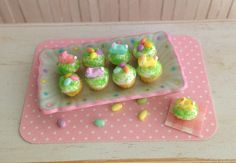Miniature Easter Cupcakes With Bunnies And by LittleThingsByAnna